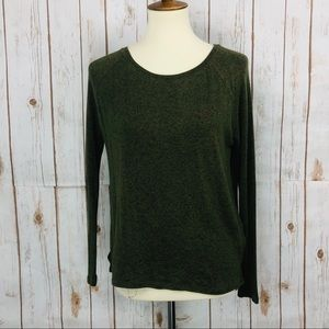 Old Navy Green Soft Knit Crew Neck Shirt Top